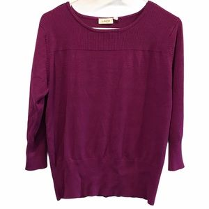 Laura sweater silver buttons round neck large